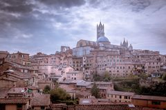 Il Duomo. View on the cathedral of Siena, Italy Royalty Free Stock Image