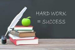 Il duro lavoro uguaglia il successo Fotografia Stock Libera da Diritti