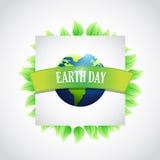 il eco lascia l'illustrazione del segno del giorno di terra Fotografia Stock