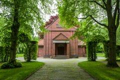 Il Ehrenfriedhof in Wilhelmshaven, Germania immagine stock libera da diritti