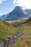Il Eiger nelle alpi svizzere Immagini Stock