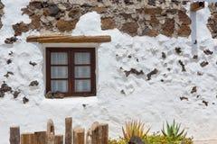 Il EL Golfo nel bianco di Lanzarote alloggia le facciate Fotografia Stock Libera da Diritti