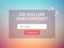Il email del modello di vettore sottoscrive Presenti la forma per l'insegna della lettera del email del sito Web Fotografia Stock Libera da Diritti