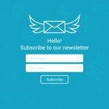 Il email del modello di vettore sottoscrive Presenti la forma per l'insegna della lettera del email del sito Web Immagine Stock Libera da Diritti