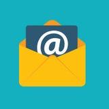 Il email piano di concetto di progetto invia il vettore dell'icona Immagini Stock Libere da Diritti