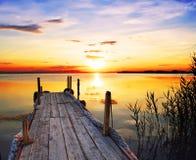 Il enbarcadero i il lago Fotografia Stock Libera da Diritti