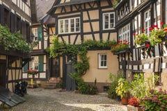 Il Engelgasse storico nella vecchia città di Gengenbach Fotografie Stock Libere da Diritti