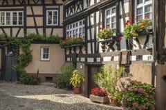 Il Engelgasse storico nella vecchia città di Gengenbach Immagini Stock