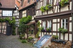 Il Engelgasse storico nella vecchia città di Gengenbach Fotografia Stock Libera da Diritti