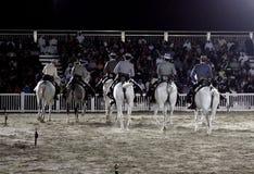 Il Equestrian effettua il 26 marzo 2012 in Bahrain fotografia stock libera da diritti