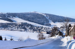 Il Erzgebirge in Sassonia, Germania Fotografia Stock Libera da Diritti