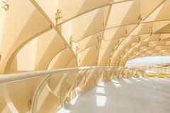 Il est fait à partir du bois de construction collé avec un revêtement de polyuréthane Photographie stock libre de droits