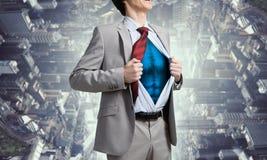 Il est héros de la société Media mélangé Photo stock