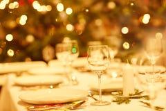 Il est temps pour le dîner de Noël image stock