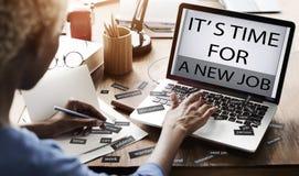 Il est temps pour nouveau Job Career Employment Concept photo stock