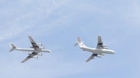 Il-78 et Tu-95 chez Victory Parade Images libres de droits