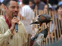 Il falconiere medievale 18 di festival 2016 Fotografia Stock Libera da Diritti