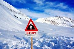 Il fanale di arresto a Jungfrau delle alpi svizzere Fotografia Stock
