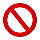Il fanale di arresto nessun'icona rossa del cerchio di vettore d'avvertimento dell'entrata illustrazione di stock