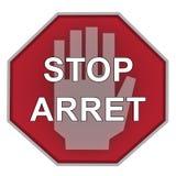 Il fanale di arresto su priorità bassa bianca Fotografie Stock Libere da Diritti