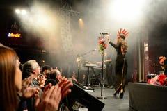 Il fandango del combustibile (banda elettronica, della musica funky, di fusione e di flamenco) esegue a Apolo Fotografie Stock