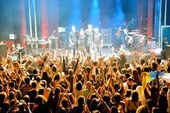 Il fandango del combustibile (banda elettronica, della musica funky, di fusione e di flamenco) esegue a Apolo (sede) Fotografia Stock Libera da Diritti