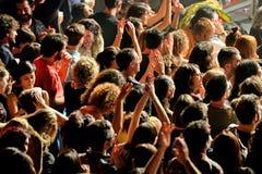 Il fandango del combustibile (banda elettronica, della musica funky, di fusione e di flamenco) esegue a Apolo (sede) Fotografia Stock