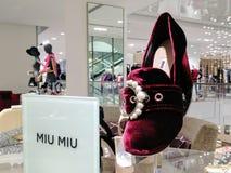 Il fannullone abbellito del velluto pompa le scarpe delle donne Fotografie Stock