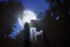 Il fantasma della luna Fotografia Stock Libera da Diritti