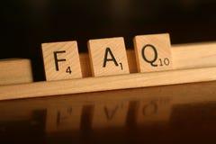 Il FAQ ha fatto frequentemente le domande fotografie stock