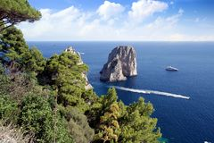 Il Faraglioni in Capri island Royalty Free Stock Photo