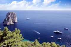 Il Faraglioni in Capri island Royalty Free Stock Image
