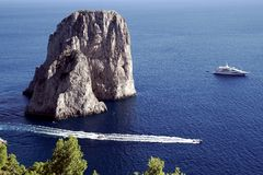 Il Faraglioni in Capri island Stock Photography