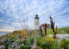 Il faro al punto Maine di Pemaquid Fotografia Stock Libera da Diritti