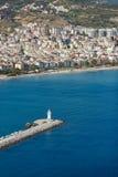 Il faro in Alanya, Turchia fotografie stock