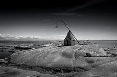 Il faro all'estremità di Verdens, Norvegia Immagine Stock