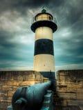 Il faro del castello di Southsea Fotografia Stock