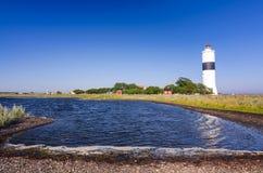 Il faro del sud di Oland - vista della baia del mare Fotografia Stock Libera da Diritti