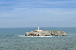 Il faro della linea costiera di Santander Fotografia Stock