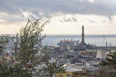 Il faro di Genova fotografie stock