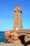 Il faro di Ploumanach, Brittany, Francia Immagine Stock Libera da Diritti