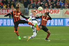 Il FC Shakhtar Donetsk contro il ¼ di FC Baviera MÃ nchen Fotografie Stock
