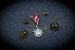 Il 23 febbraio protezione del giorno di patria Fotografia Stock Libera da Diritti