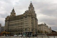 Il fegato reale che costruisce Liverpool, nel Regno Unito Fotografie Stock Libere da Diritti