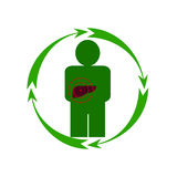 Il fegato umano è in pericolo Fotografia Stock Libera da Diritti