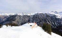 Il Fellhorn nell'inverno Alpi, Germania Fotografia Stock Libera da Diritti