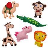 Il feltro gioca gli animali di safari Fotografia Stock