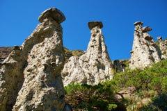 Il fenomeno della natura ed il miracolo della natura lapidano le rocce dei funghi in Al Fotografia Stock