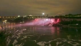 Il ferro di cavallo cade sezione del cascate del Niagara Lasso di tempo stock footage