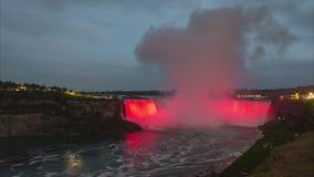 Il ferro di cavallo cade sezione del cascate del Niagara Lasso di tempo archivi video